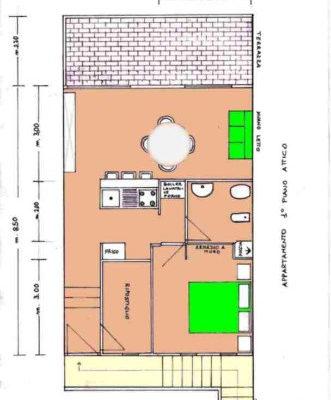 appartamento in affitto Palau planimetria